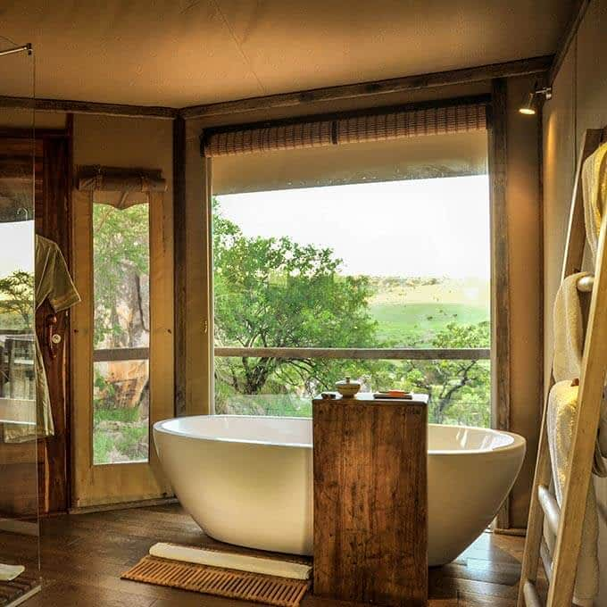 Bathroom at Lemala Kuria Hills Lodge in Tanzania
