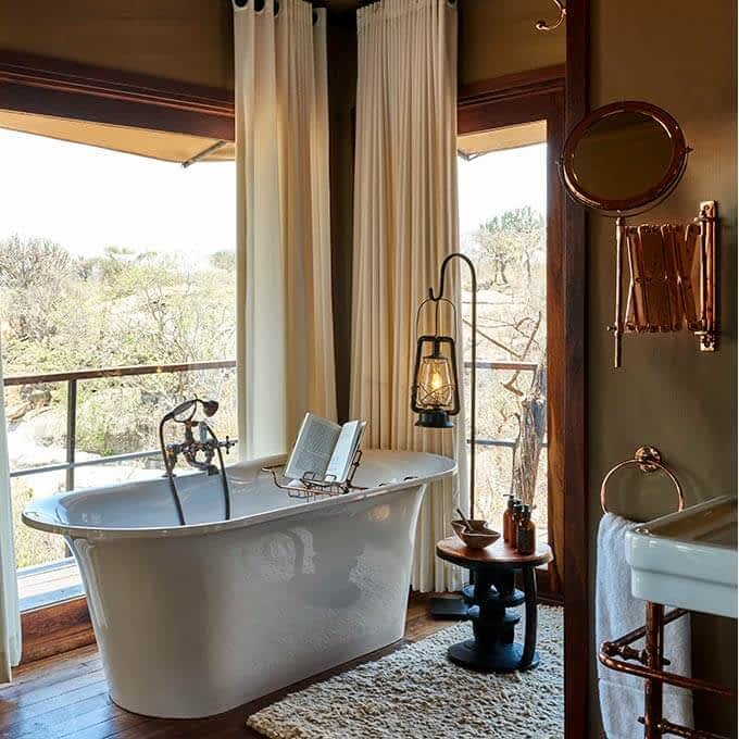 Bathroom at Mwiba Lodge in Tanzania
