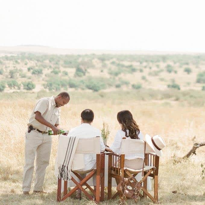Enjoy a bush breakfast in Serengeti National Park during your stay at Roving Bushtops