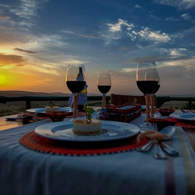 Enjoy exquisite culinary experiences with a view Mbali Mbali Soroi Serengeti Lodge