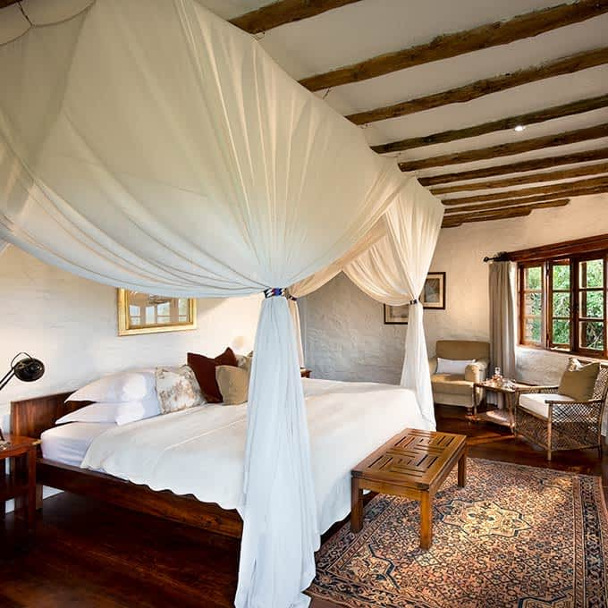 A luxury cottage at Klein's Camp in Serengeti