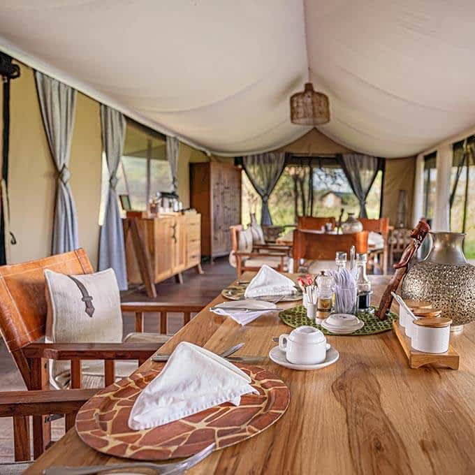 Lemala Ewanjan Tented Camp offers exquisite cuisine in Tanzania