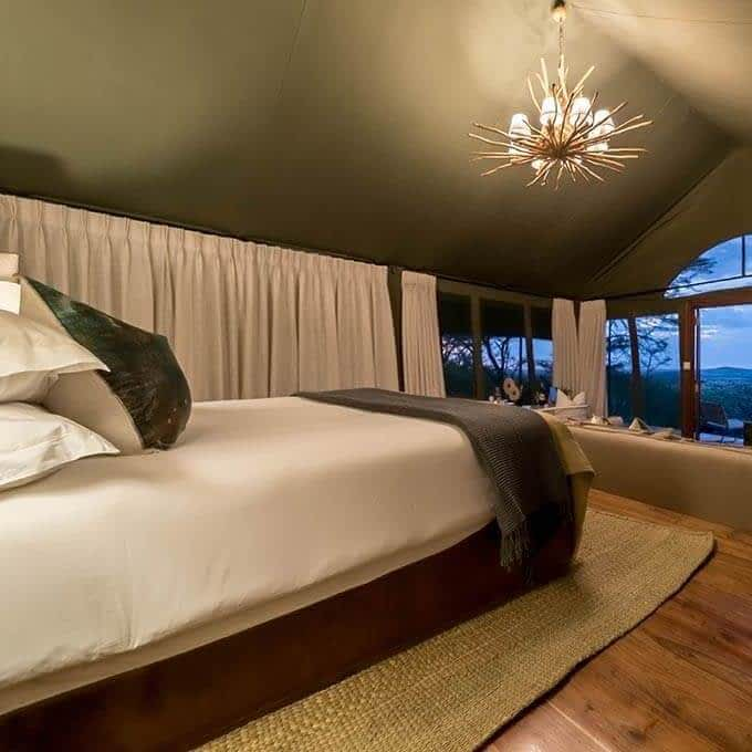 Your luxury room in the Serengeti during your stay at Taasa Lodge