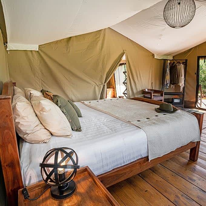 Your luxury safari tent at Lemala Ewanjan Tented Camp in the Serengeti