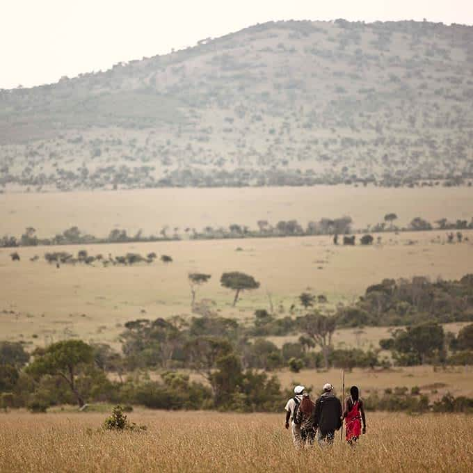 The Maasai people of the Serengeti act as guides