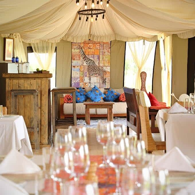Main area at Ehlane Plains Camp in the Serengeti in Tanzania