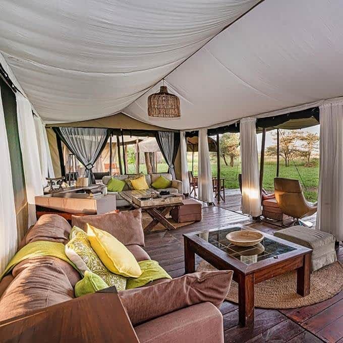 Main area at Lemala Ewanjan Tented Camp in Tanzania