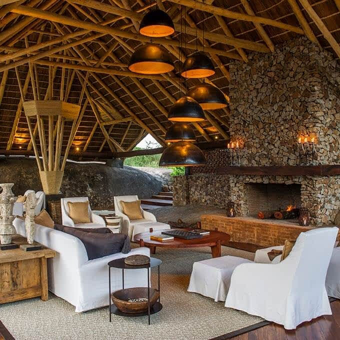 Main area at Mwiba Lodge in the Greater Serengeti Area in Tanzania