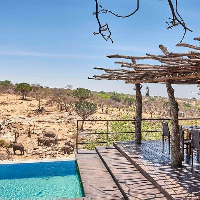 Mwiba Lodge is a luxury safari lodge in the Greater Serengeti Area in Tanzania