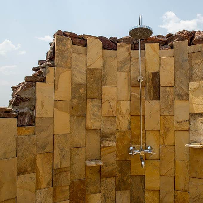 Your outside shower at Kubu Kubu Tented Camp in Serengeti National Park