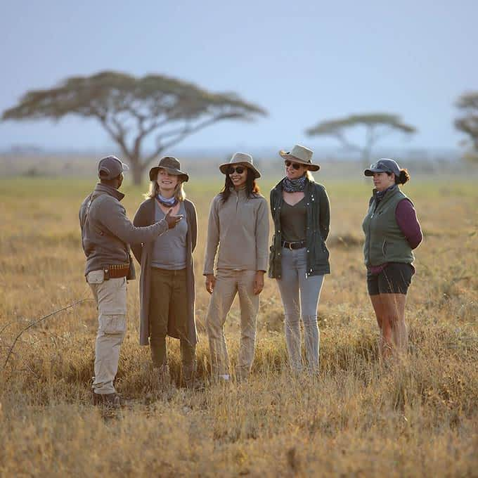 A safari bush walk in Serengeti - Tanzania