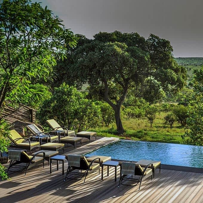Swimming pool at Lemala Kuria Hills Lodge in Tanzania