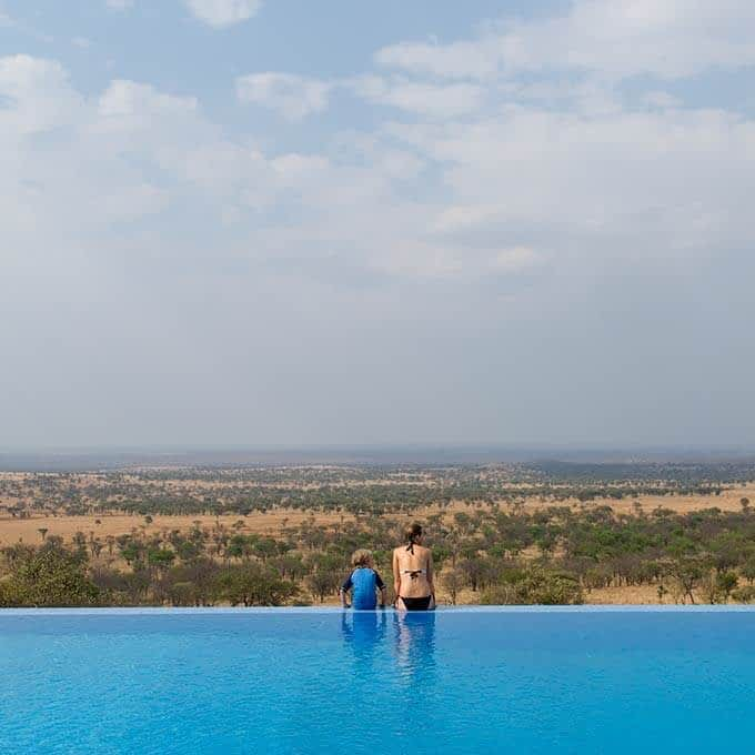Enjoy the swimming pool at Kubu Kubu Tented Lodge