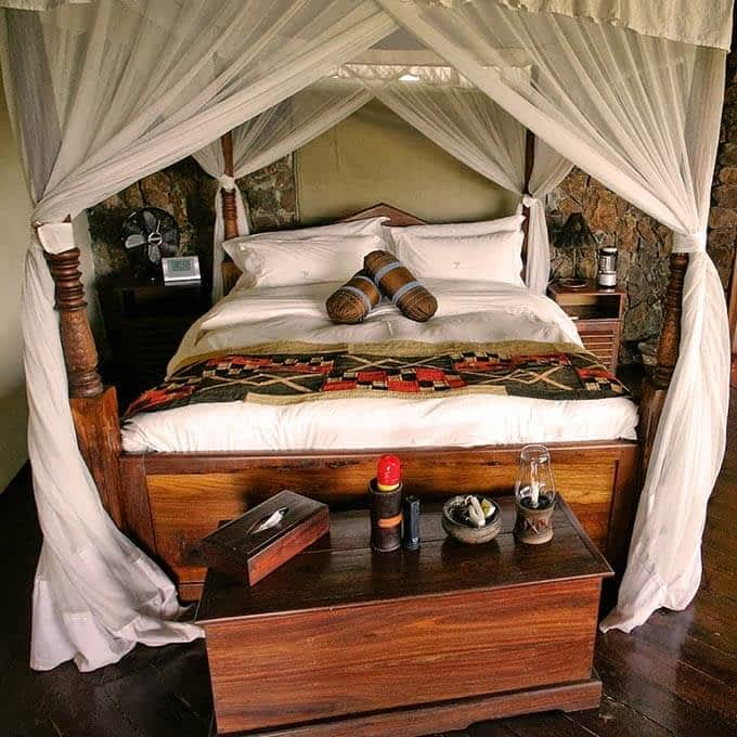 Tented chalet at Mbalageti Serengeti in the Serengeti in Tanzania